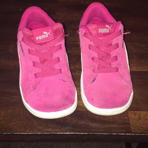 Pink Toddled Pumas size:8